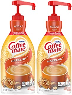 Nestle Coffee mate Coffee Creamer, Hazelnut, Concentrated Liquid Pump Bottle, Non Dairy, No Refrigeration, 50.7 Fl; Oz (Pa...