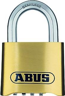 ABUS Cijferslot 180IB/50 - hangslot van messing - weerbestendig - met individueel instelbare cijfercode - 25543 - niveau 5...