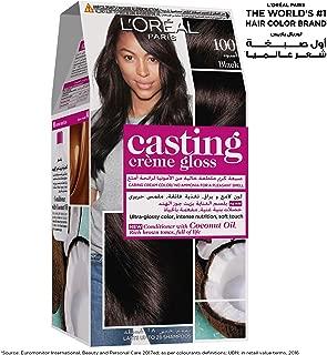 L'Oreal Paris Casting Creme Gloss 100 Black Licorice Haircolor, 72 ml