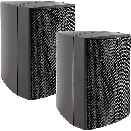 ChiliTec Altavoces de pared de 2 vías, color negro, para sistema estéreo Hi-Fi, cine en casa, 40 W, 8 ohmios