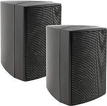 ChiliTec, coppia di altoparlanti da parete a 2 vie, per impianto stereo HiFi, home theatre, 40 Watt, 8 Ohm