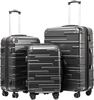 Luggage Expandable Suitcase 3 Piece Set with TSA Lock Spinner 20in24in28in (reg grey)