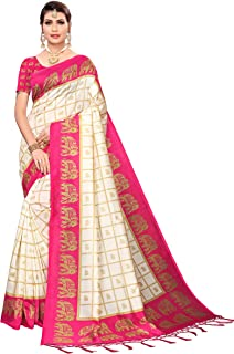 ANNI DESIGNER Silk with Blouse Piece Saree