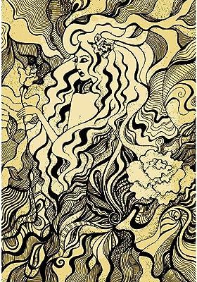 ArtzFolio Drawing of A Girl D3 Peel & Stick Vinyl Wall Sticker 42inch x 60.9inch (106.7cms x 154.6cms)