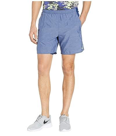 Nike Challenger Shorts 7 2-in-1 (Blue Void/Blue Void/Heather/Reflective Silver) Men