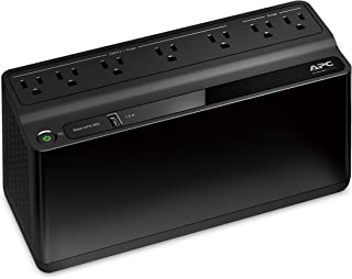 APC UPS Battery Backup & Surge Protector with USB Charger, 600VA, APC Back-UPS (BE600M1) (Renewed)