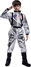 Maxim Party Supplies Kids Astronaut Space Suit Costume Cosplay Jumpsuit with Embroidered Patches and Pockets for Children