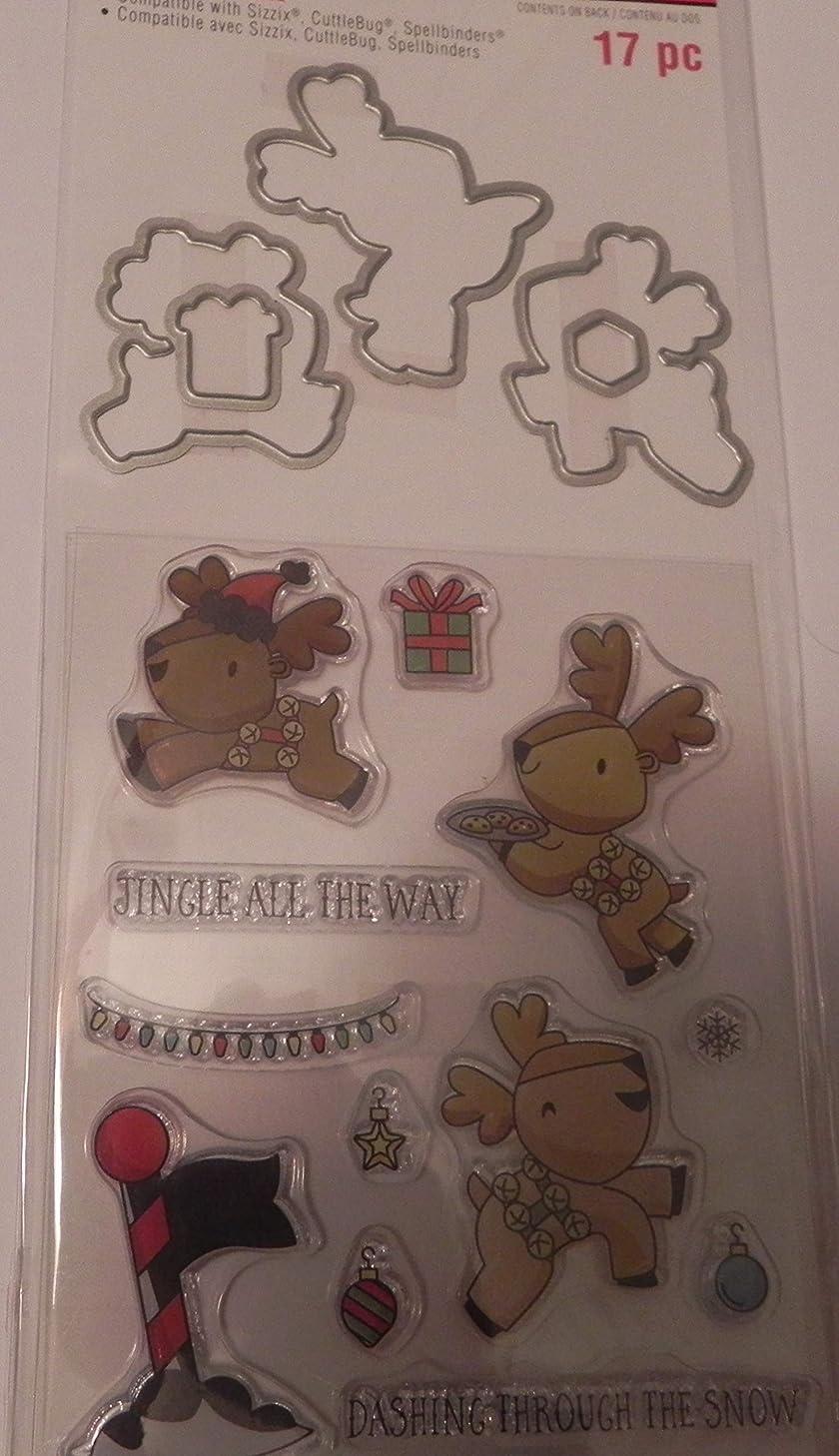 Recollections Christmas Stamp & Die Set, Reindeer