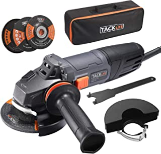 Angle Grinder, 4-1/2-Inch, 8.5Amp(1000W) & 12000RPM HPP Tool W/ Anti-Vibration Handle,1 Grinding Wheel,1 Cutting Wheel,1 Flap Disc,2 Wheel Guards,1 Carrying Bag,Tacklife P9AG115