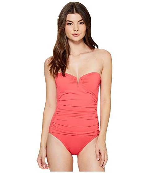 6934bbfe98032 Tommy Bahama Pearl V-Front Bandeau One-Piece Swimsuit at 6pm