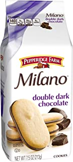 Pepperidge Farm Double Dark Chocolate Milano Cookies, 7.5 oz Package