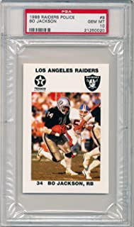 1988 Raiders Police Bo Jackson Rookie Card Graded PSA 10