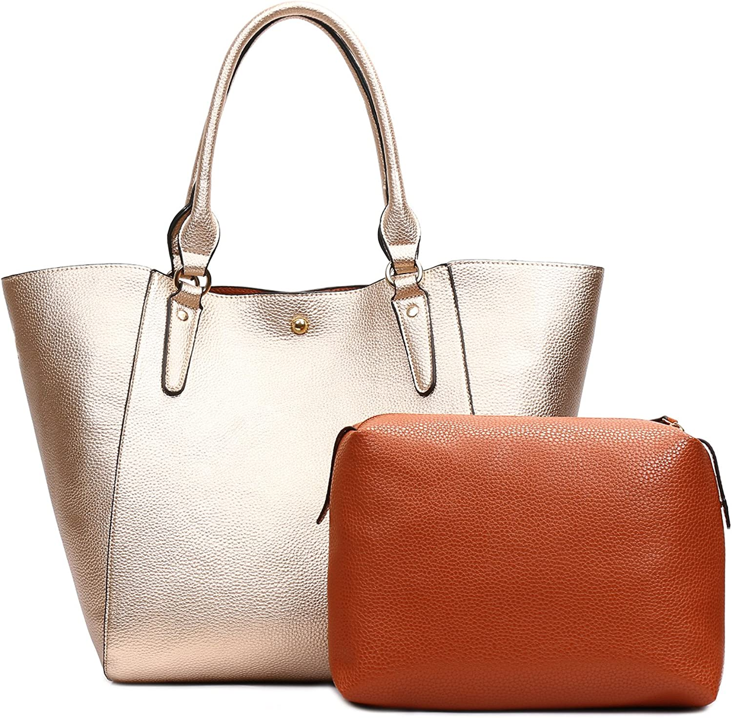 Unlimited energy Women Pu Leather Big Shoulder Bag Purse Handbag Tote Bags