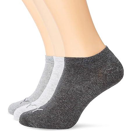 PUMA Unisex Puma Sneaker Socks 3 Pair Pack Grey 9 11 UK, Grey, UK