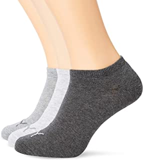 PUMA Unisex Puma Sneaker Socks 3 Pair Pack Grey 9 11 UK, Grey, UK