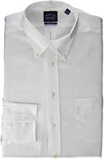 Men's Dress Shirt Regular Fit Non Iron Stretch Collar Solid