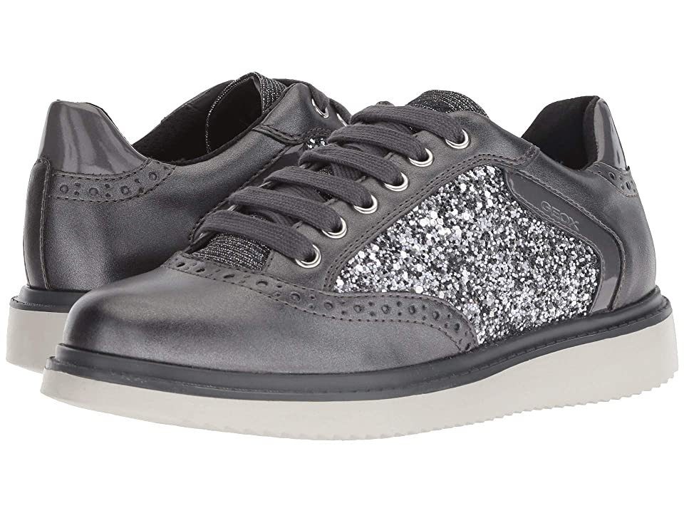 Geox Kids Thymar Girl 15 (Big Kid) (Dark Silver) Girl