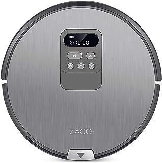 ZACO V80 - 2-in-1 stofzuigerrobot en dweilrobot met LCD-display - Stofzuiger met intelligente navigatie, optimalisatie voo...