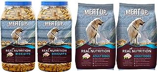 Meat Up Mutton Flavour , Real Chicken Biscuit, Dog Treats -500g Jar ( BOGO) and Adult Dog Food, 1.2 kg (BOGO)