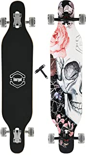 WiiSHAM Longborads Skateboards 42 inches Complete Drop Down Through Deck Cruise Professional Longboard