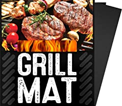 BBQ Grill Sheets Mat ,100% Non Stick Safe ,Extra Thick,Reusable and Dishwasher safe, 3 piece of (13