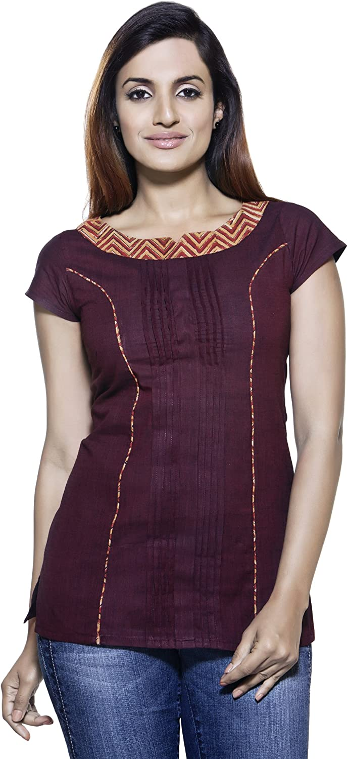 Max 62% OFF Womens Indian Ethnic Powerloom Printed Kurta OFFicial store Tunic Band Neck