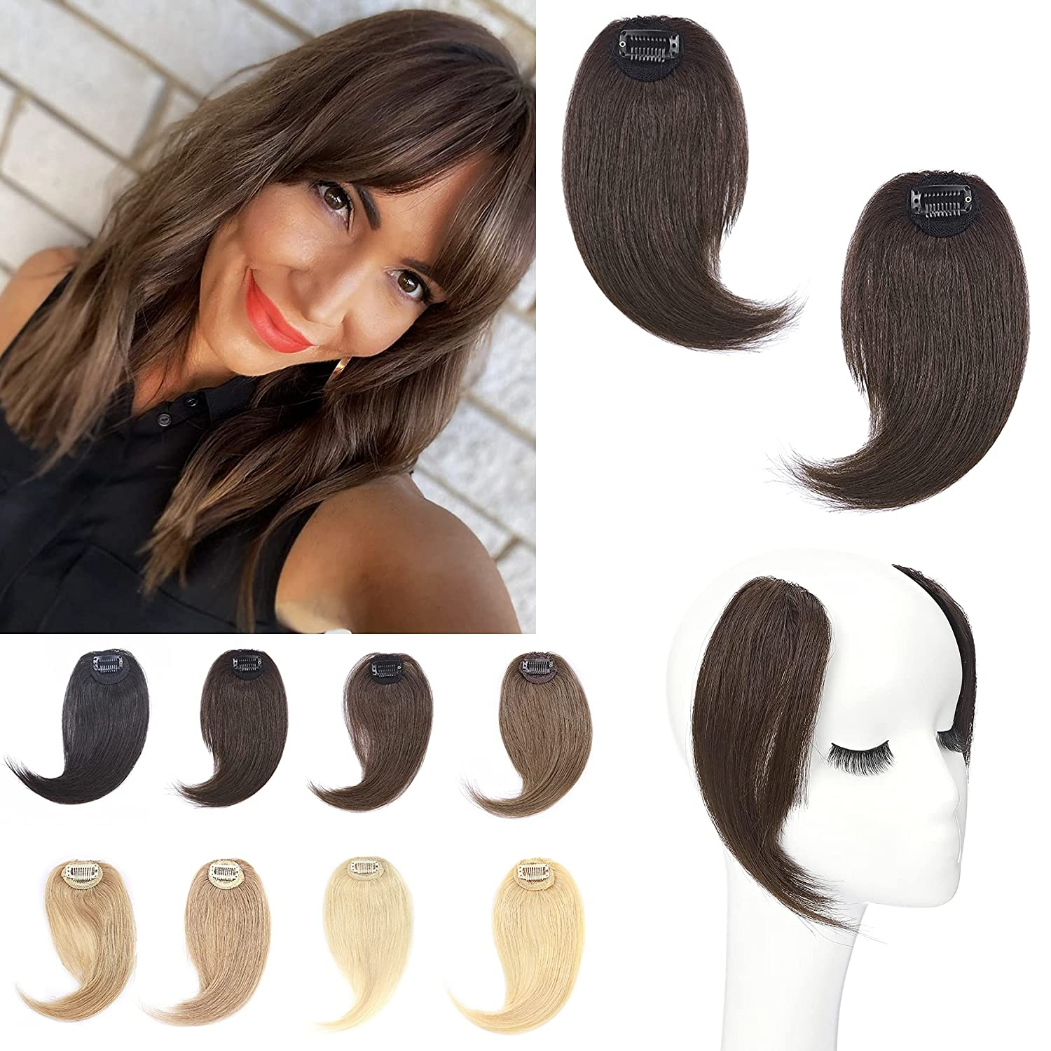 S-noilite Clip in Hair Award New sales Bangs 100% Real on 2PCS S Human