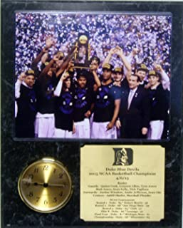 GFSF Duke Blue Devils NCAA Championship 8x10 Photo Clock Plaque with Engraved Nameplate