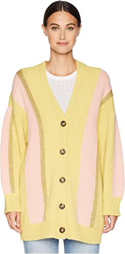 Stripe Lurex Cardigan Jacket