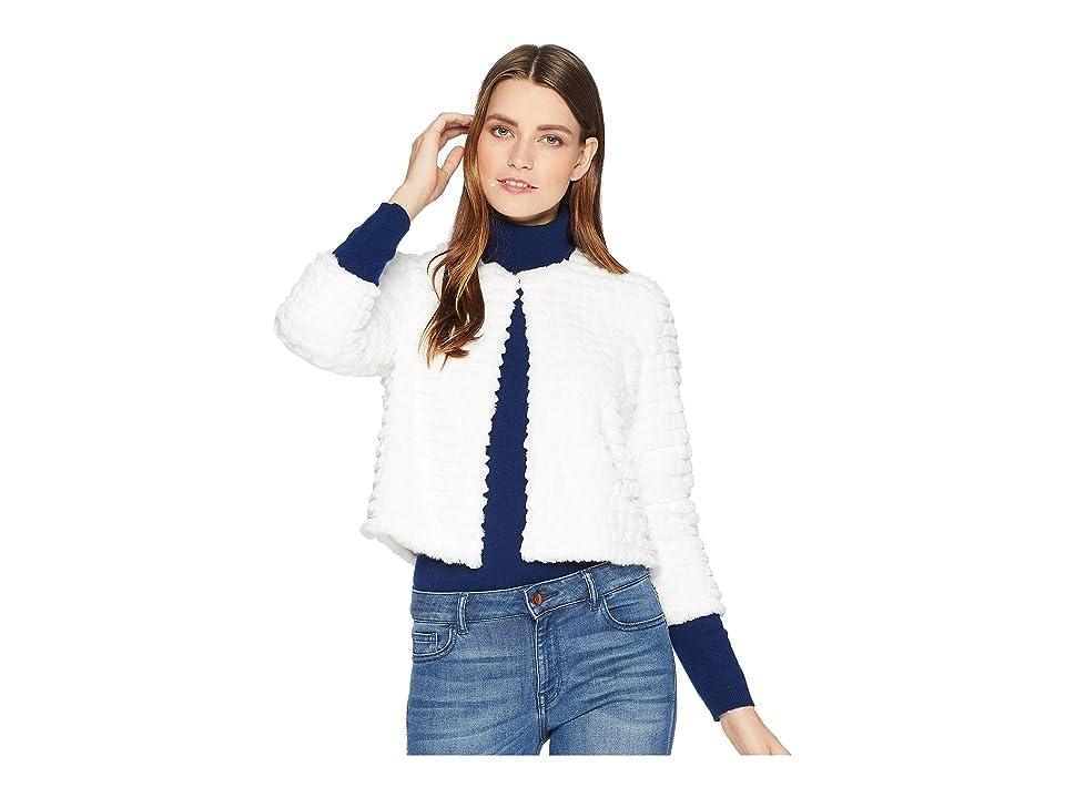 Calvin Klein Faux Fur Chubby Shug (Winter White) Women
