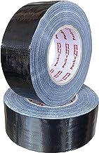 Packatape | 2 rollen Black Duct Tape Sterk & Extra Sticky 50mm x 50m | Ideaal als zwarte tape, Gaffer Tape Zwart, Sterke D...