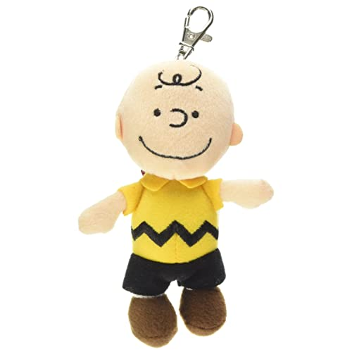 Aurora World 60532 5-Inch Peanuts Charlie Backpack Clip (Brown)