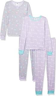 GERBER Baby Girls Toddler Organic 2 Pack 2-Piece Cotton Pjs