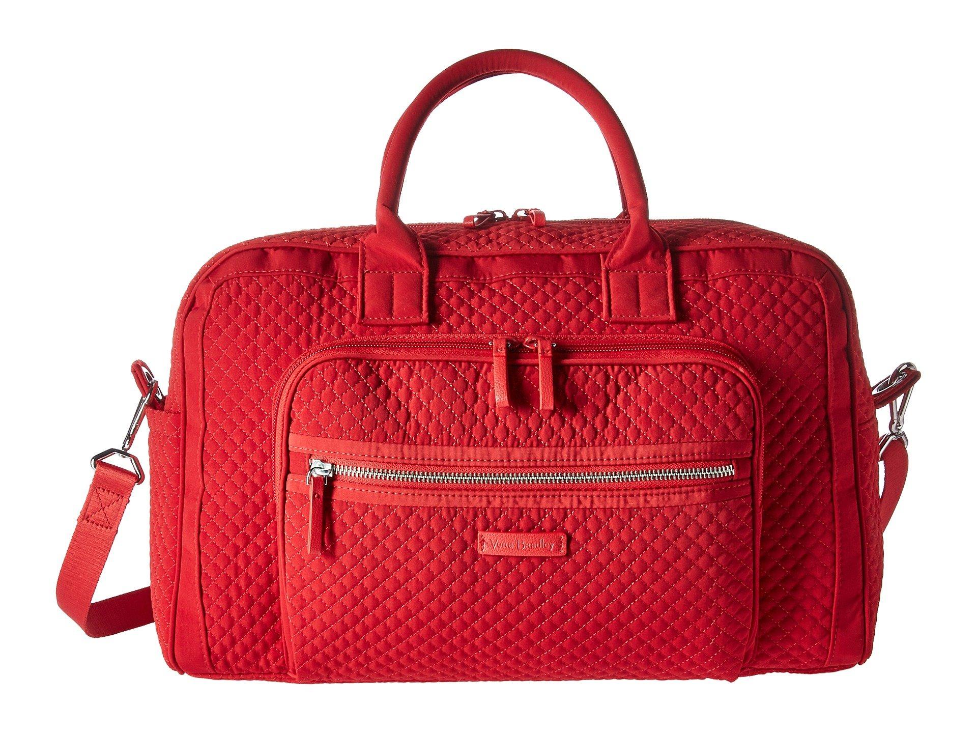 Compact Travel Red Weekender Vera Iconic Cardinal Bradley Bag HqyEEFKvw