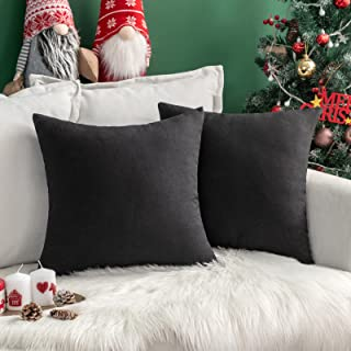 MIULEE Set van 2 kussenslopen, kussenslopen, linnenlook, sierkussen, decoratief, sofakussen voor bank en slaapkamer, met v...