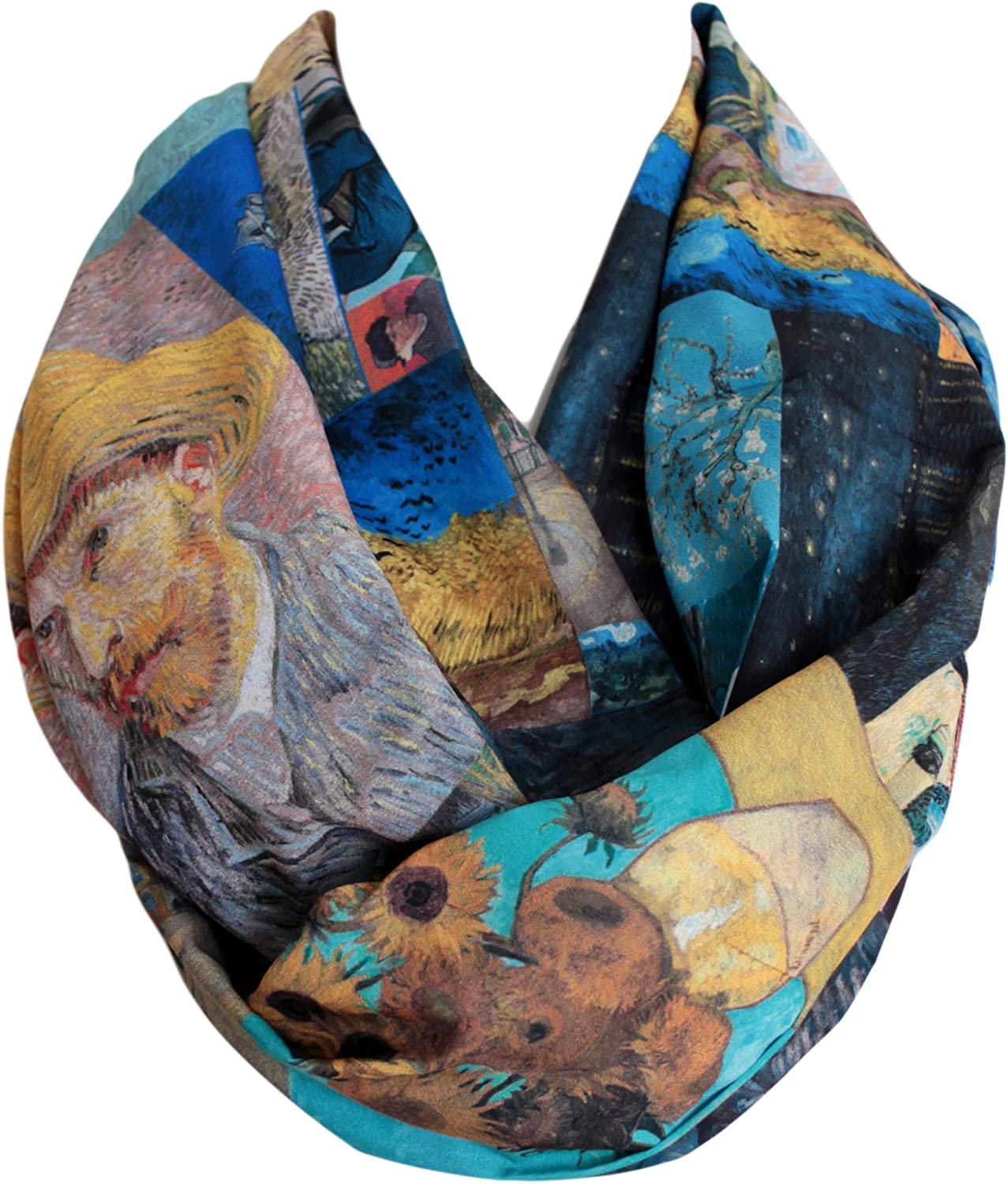 Etwoa's Van Gogh Paintings Infinity Scarf Circle Loop Tube Scarf