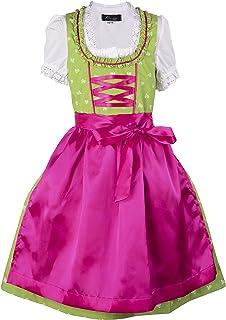 Ramona Lippert Kinder Dirndl für Mädchen - Kinderdirndl Franziska in hellgrün - 3-teiliges Trachtenkleid - Trachtenmode - Tracht mit Schürze