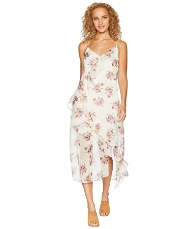 1.STATE Wildflower Ruffled Slip Dress (Soft Ecru) Women