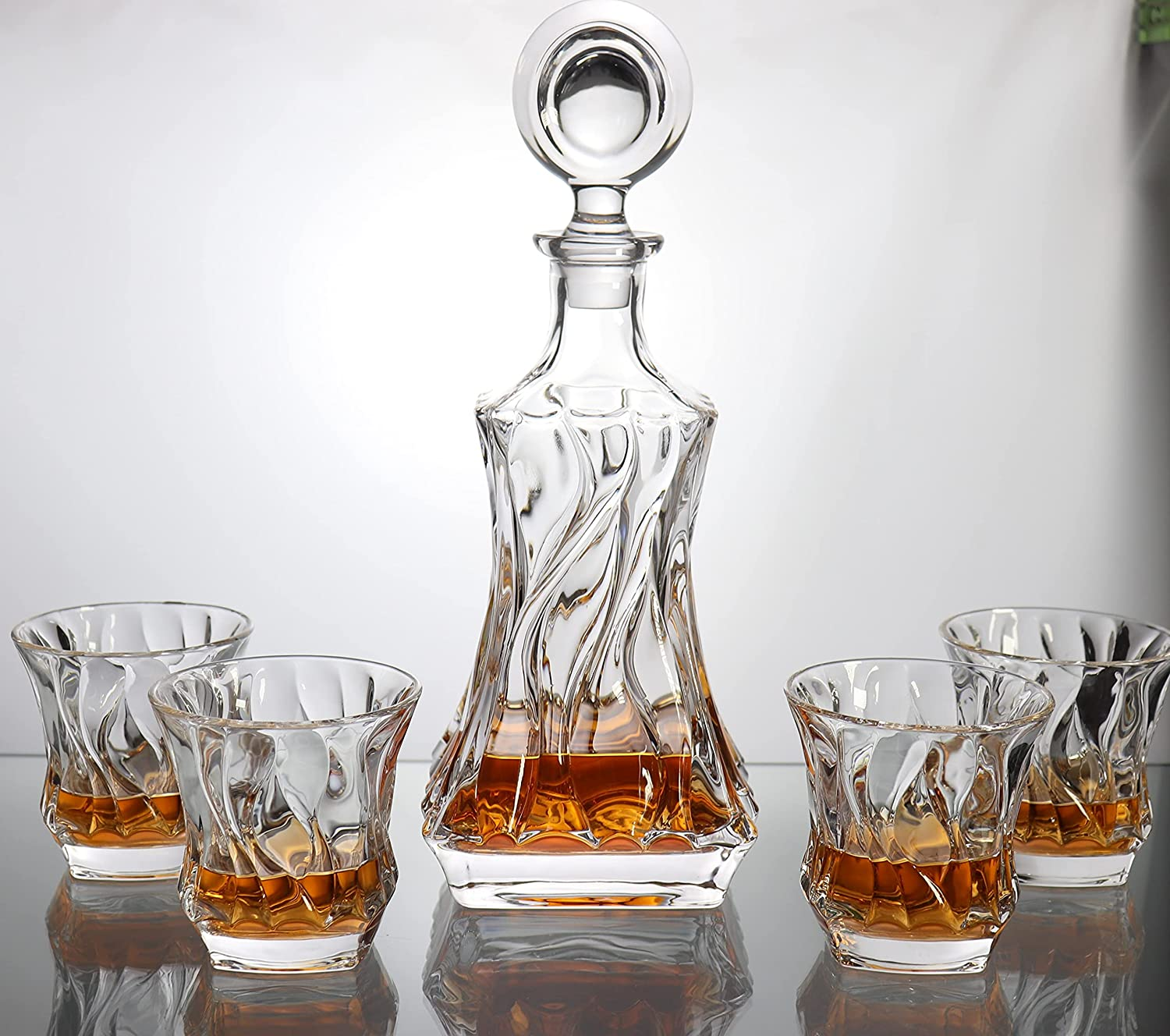 Paysky Whiskey Decanter Glass Max 87% OFF with Stopper excellence Liquor Decan