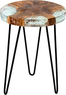 East at Main Beloit Icy Brown Teakwood Square Accent Table, (14