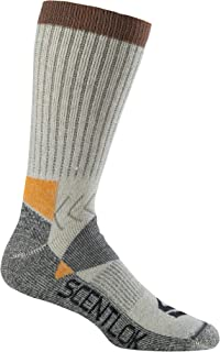 Scentlok Men's Hiker Crew Sock (Grey, Small/Medium)