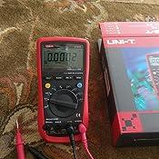 UKCOCO UNI-T UT61E Mult/ímetro digital profesional de AC//DC Medidor de alta precisi/ón Medidor de amperaje de rango autom/ático Medidor de voltaje 11999 Cuenta retenci/ón de datos bater/ía no incluida