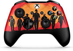 Dreamcontroller Xbox One Non-Modded Controller - Customized Design with Anti-Slip Soft Grip - Great for Gaming Competitions and Tournaments - Bluetooth for Windows 10 PC (Red Dead Redemption 2 Gang)