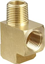 Anderson Metals Brass Pipe Fitting, Barstock Street Tee, 1/8
