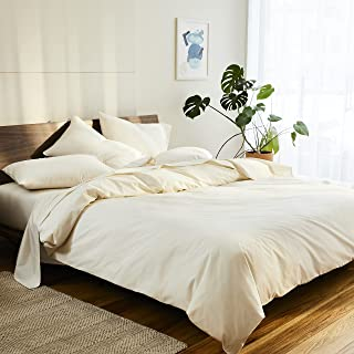 Brooklinen Luxe Core Sheet Set for Full Size Bed, Cream -...
