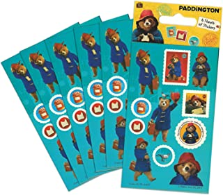 Paper Projects 01.70.15.037 Paddington Bear film impreza torba zestaw naklejek (6 arkuszy), niebieski, 12,5 cm x 7,5 cm