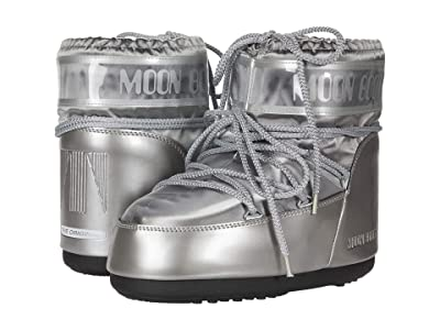 MOON BOOT Moon Boot(r) Classic Low Glance (Silver) Women