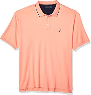 Men's Big and Tall Classic Fit Short Sleeve Solid Tipped Collar Soft Polo Shirt