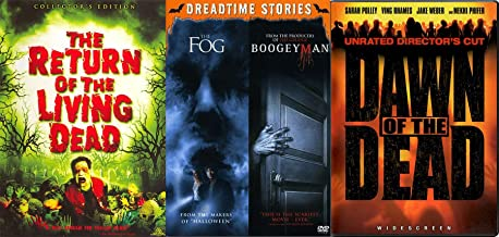 DO they Exist? Boogeyman & The Fog + Return of the Living Dead & Dawn of the Dead Zombies DVD 4 Feature Horror movie bundle