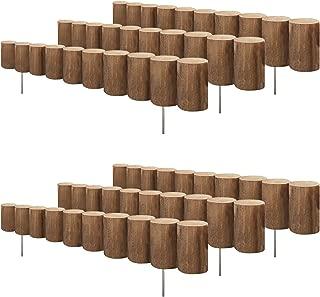 Greenes Wood Log Edging 5 In. H x 30 In. L (6-pack 15 Ft.)